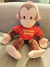 Applause Curious George Monkey Plush Hand Puppet Stuffed Animal Doll Toy 15""