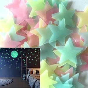 GLOW IN THE DARK STARS Decal Kids Star Nursery Solar System Decor Stick On Wall