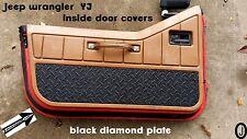 Jeep Wrangler YJ BLACK Rubber Coated Diamond Plate Interior Half Door Covers