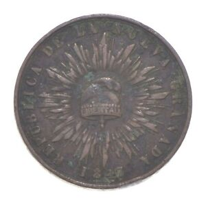 Better Date - 1847 Colombia 1 Decimo De Real *346