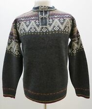MENS NOMAD JUMPER SWEATER WOOL GREY FAIR ISLE SIZE S SMALL MINT