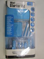 Nintendo DSi Accessories dreamGEAR 10 in 1 Starter Kit Blue NIP