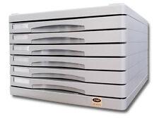 Cassettiera in ABS a 6 cassetti sovrapponibile con piano superiore portafogli