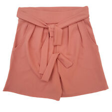 Wasit Tie Paperbag Pocket Shorts Womens High Waist Belted Holiday Hotpants Cheap