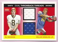 ELI MANNING KELLEN WINSLOW RC 2004 TRADITION DUAL THROWBACK THREADS JERSEY /100