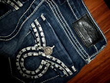 BIG STAR LIV VINTAGE COLLECTION DARK SLIM BOOTCUT STRETCH JEANS SIZE 24R 24X33
