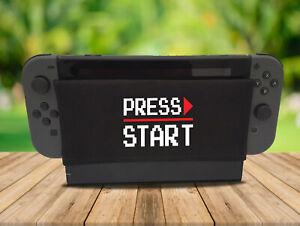 Press Start - Nintendo Switch Dock Sock Cover Geeky Gaming Screen Handmade