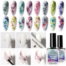 BORN PRETTY 15ml Blooming Nail Polish Watercolor Ink Marble Nail Art Varnish DIY