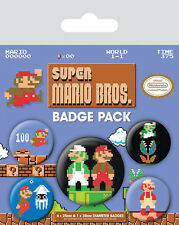 Super Mario Bros. Ansteck-Buttons 5er-Pack NEU & OVP