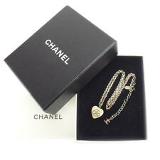 Chanel Necklace Pendant Camellia Beige Gold Woman Authentic Used Y3808