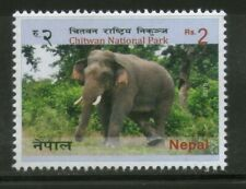 Nepal 2015 Chitwan National Park Animals Elephants stamp 1v MNh