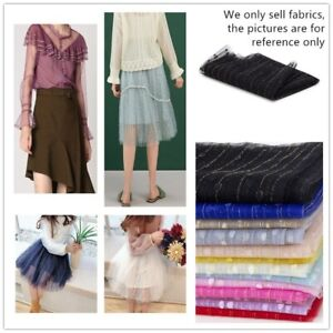 59 In X 78.7 In Mesh Fabric Striped Gold Line Polka Dot Glitter Cloth DIY Crafts