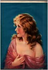 RARE Large Art Deco Blonde Pin-Up MABEL ROLLINS HARRIS Colorful Print Lithograph