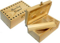 GRASSLEAF WOODEN ROLLING BOX ROLL BOX SMOKING MEDIUM