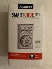 Kwikset SmartCode 909 CNT Touchpad Electronic Deadbolt Satin Nickel