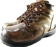 Red Wings Men Boots Steel Toe Size 8 D Brown Water Proof Brass Eyelets And Hooks