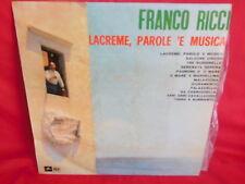 FRANCO RICCI Lacreme parole e musica LP 1960s ITALY EX