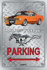 Parking Sign Metal Mustang Elanore-16 - Checkerplate Look