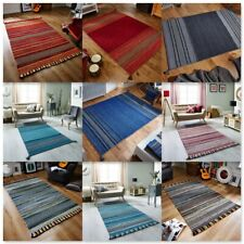 SMALL - LARGE KELIM KILIM ETHNIC NATIVE ORIENTAL WOVEN COTTON & CHENILLE RUG NEW