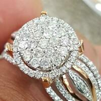 Exquisite White Topaz 925 Silver Band Ring Women Wedding Engagement Jewelry Gift