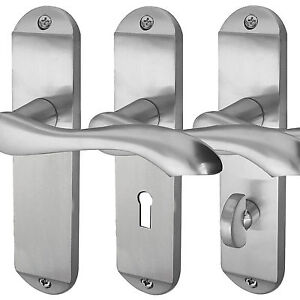 Broadway Internal Door Handles Sets Lever On Backplate - Polished / Satin Chrome