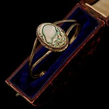 Antique Vintage Native Sterling Silver Mexican Taxco Abalone Split Cuff Bracelet