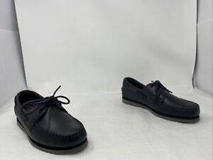 Allen Edmond Mens Force 10 Boat Shoe Charcoal