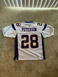Adrian Peterson Autograph Reebox On Field Jersey Inscribed ROY 07 PSA Vikings