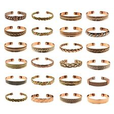 2 Pack of Copper Magnetic Bracelet for Arthritis Pain Therapy Energy Cuff Bangle