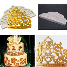 Crown Lace Silicone Cake Mould Fondant King Queen Princess Retro Hat Baking Mold