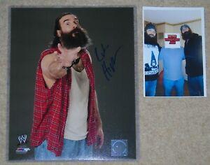 WWE SIGNED PHOTO 8x10 LUKE HARPER WITH PROOF & COA WRESTLING STAR BRODIE LEE AEW