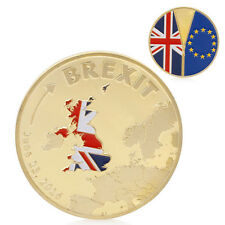 Gold Plated 2016 Cook Islands Brexit Collection Commemorative Coin Physical Gift