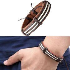 Bracelet Homme Femme Cuir Marron