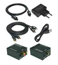 Analog zu Digital Audio Konverter + 0,7m Toslink + 0,7m Cinch Kabel (MS-AD3)