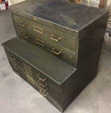 Vintage Antique Industrial File Cabinet Allsteel Steel General Fireproofing