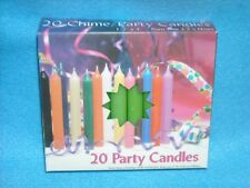 "Angel Chime Party Candles, 1/2"" Diameter x 4"" Tall, 20 in New Box, Light Green"