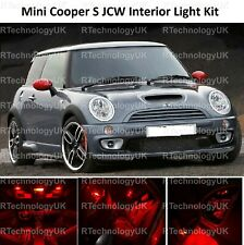 RED PREMIUM MINI COOPER S JCW R50 R53 INTERIOR FULL UPGRADE LED LIGHT KIT