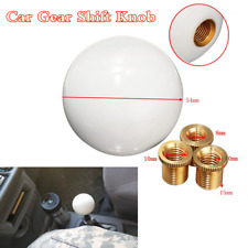 White Acrylic Glossy Round Ball Shape Car Gear Shift Knob Shifter Lever Button