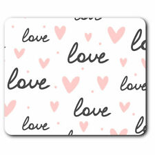 Computer Mouse Mat - Pink Love Hearts Valentine Day Girls Office Gift #16779