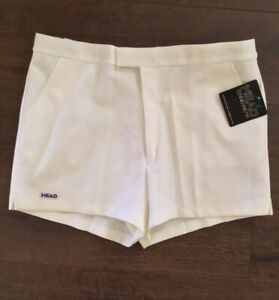 Vintage Shorts TaupeWhite Checkered Size M38