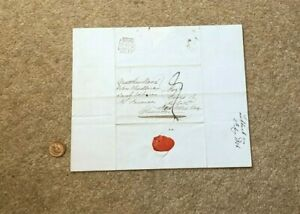 1836 GB Blk Maltese Cross LS  Entire to Gloucester from London
