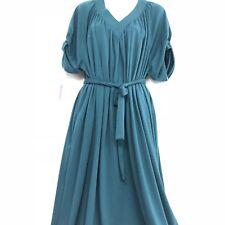 House Dress Muumuu Medium 8 Vintage Jacobson's NEW Belted Maxi Knot Sleeve