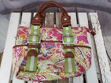 Tyler Rodan Womens Purse Hand Bag Satchel White Pink Green Small Size Bag
