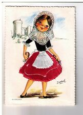 Postcard: Embroidered Card of Spanish Lady