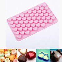 55 Silicone Hearts Chocolate Cookie Jelly Mould Baking Mold Baking Tray UK STOCK