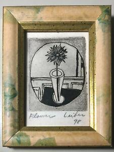 """Gerson Leiber original lithograph """"Flower"""" 1998"""