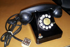 Vintage 1940s WESTERN ELECTRIC Black 302  Rotary Dial Desktop Phone f1 hand set