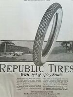 1919 Republic Tires Rubber Co Billboard Youngstown OH original ad
