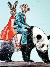GILLIE AND MARC. Direct from artists. Limited Edition Art Print. Panda Ride Love