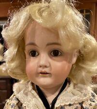 """Antique German Bisque Doll 20"""" Kestner on Original Kid Body"""